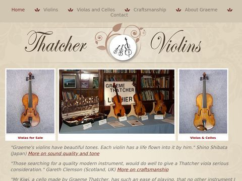 Buy Handmade, Handcrafted Violin | Thatcher Violins for Sale | Hamilton, Auckland, NZ