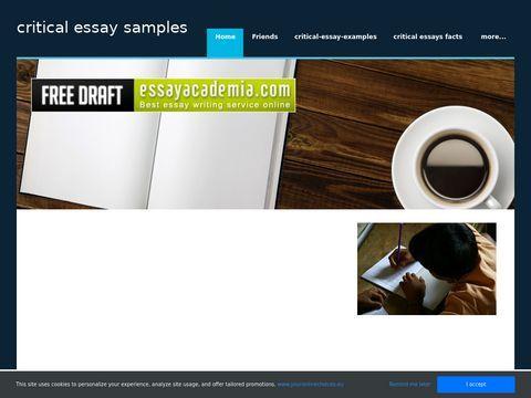 critical essay samples