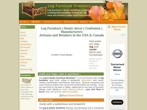 Log Furniture and Rustic Furniture Directory of th