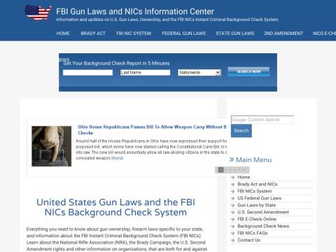 FBI Instant Criminal Gun Background Check Info