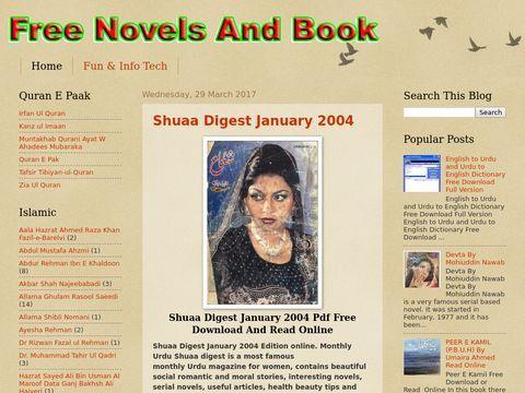 Free Urdu Novels And Books in PDF Free.