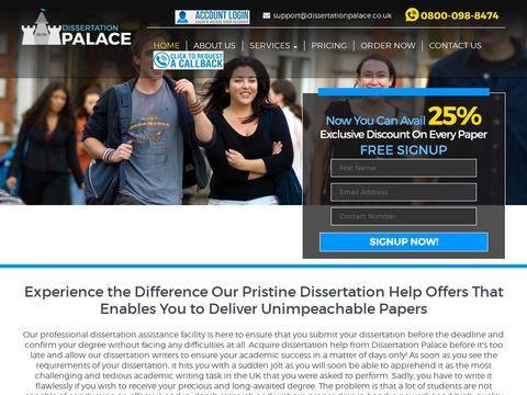 Dissertation Writing Services UK | Dissertation Palace