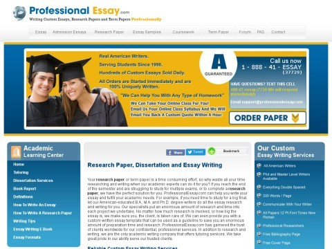 Research Paper | Dissertation | Essay Writing | Professional