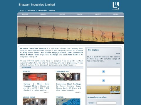 Bhawani Industries Limited: Supplies Steel tube, Steel Casti