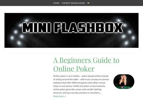 MiniFlashBOX.COM Free Online Flash Games - Play Action, Shoo