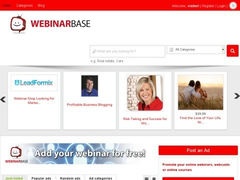 Webinar Base - The best collection of webinars and webcasts