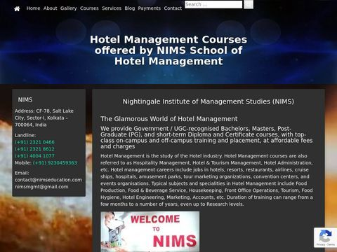 NIMS School of Hotel Management - Home