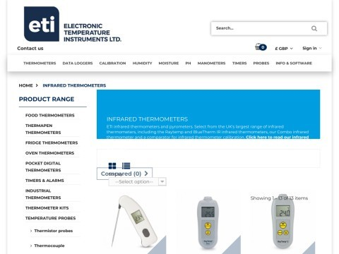 ETI thermometers - Electronic Temperature Instruments Ltd