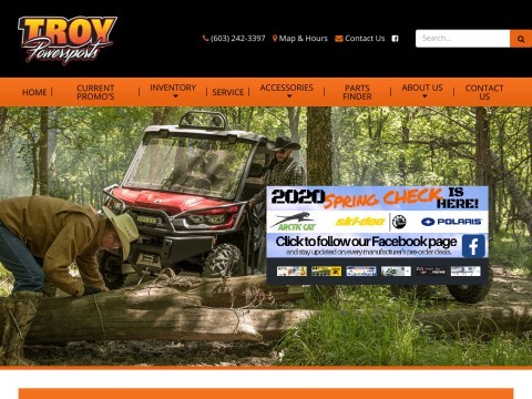 Troy Arctic Cat is a full line dealer for snowmobiles,atvs and genuine Arctic Cat parts & accessorie