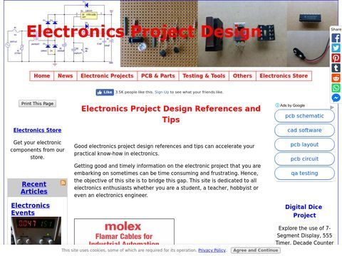 Electronics Project Design Schematics and circuit diagrams