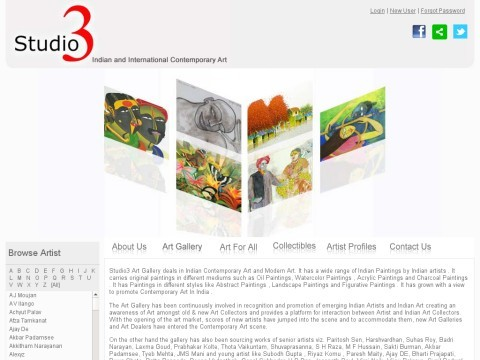 Studio3:Indian Contemporary Art Gallery