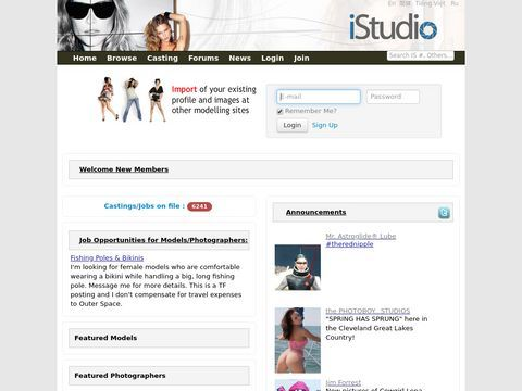iStudio.com - the latest website for models, photographers, makeup artists, hair stylists, and industry professionals world wide.