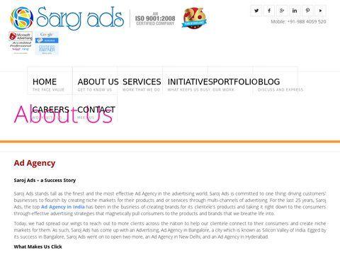 Advertising Agency in Chennai, Bangalore, Hyderabad And Delhi | Saroj Ads