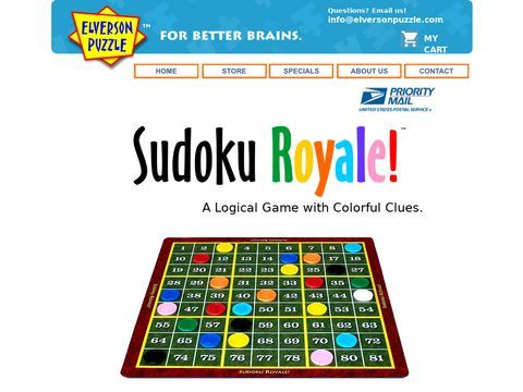 Printable sudoku puzzles by Elverson Puzzle Co.