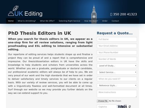 Online academic editing services - UK