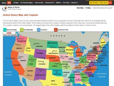 US Map,USA State Map