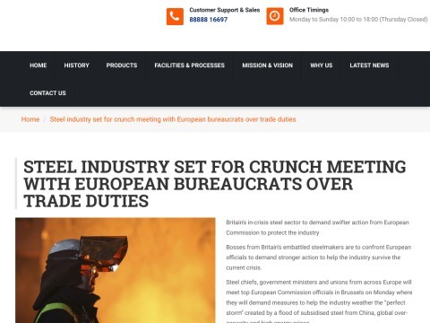 Business News | Steel industry set for....