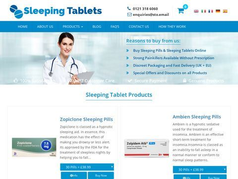 For Sufficient Sleep at Night Sleeping Tablets is Most Effec