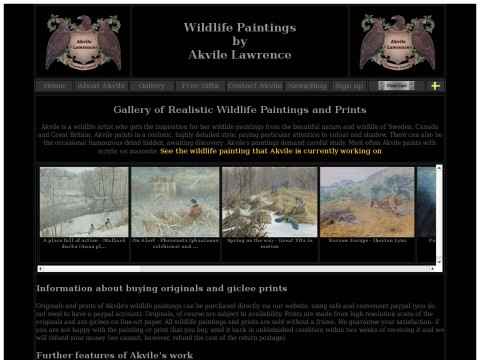 Realistic Wildlife and Nature Paintings and Prints by Akvile Lawrence