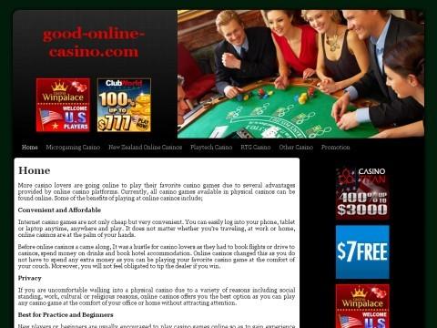 Good Online Casino - Safe Casino Fair Casino Navigation
