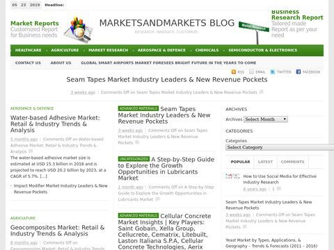 Markets Research Report, Business Research, Market Research