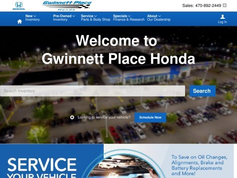 Gwinnett Place Honda –dealer for new and used Honda vehicles