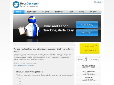 Easy to use Employee Time Tracking Software by HourDoc