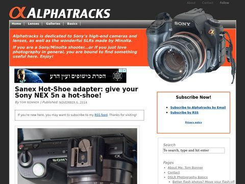 Alphatracks: Sony Alpha and Minolta SLR weblog